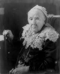 Julia Ward Howe in a photo dated April 27, 1908.
