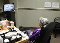 A patient sits in a treatment session at the Neurotherapy Center of Dallas. In 2012, Medicare paid Dr. Jonathan Walker for 1,302 medium-complexity office visits with 60 patients. That rate, 21 visits per patient, was nearly 80 percent higher than the next-leading neurologist in the U.S.Andy Jacobsohn - Staff Photographer