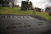 Emma and John Brewer were together nine short years, but they rest beside each other for eternity in Oakland Cemetery in Terrell.