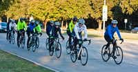 Cyclists ride on the streets of Plano during a Plano Bike Association group ride.Photo submitted by JON FISCHER