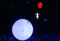 Artists perform during the opening ceremony of the 2014 Winter Olympics in Sochi, Russia.