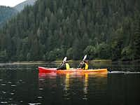 Guides accompany  Alaskan Dream guests across the calm waters of Windham Bay.April Orcutt