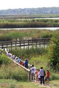 Lamplighter fourth-graders experienced a field trip to John Bunker Sands Wetlands Center, part of the 3,1000-acre Rosewood Seagoville Ranch property.