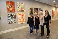 Pop Up exhibit organizers (from left) Kitty Goddard, Arts Incubator of Richardson president; Liz Conrad, organizer of the Pop Up exhibit; Lois Russell, Arts Incubator of Richardson vice president of operations; and Susan Bishop, local artist and planning committee member of the Pop Up exhibit, are helping put local art into the spotlight.Photo by ROSE BACA