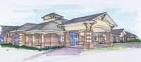 Developer Rick Bosworth said construction for The Oaks at Liberty Grove, shown in this architect's drawing, would likely start in April on Chiesa Road in Rowlett.Architectural rendering submitted by ASSISTED LIVING FACILITY PARTNERS