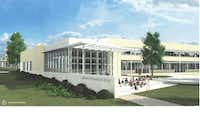 Part of LEEF's planned additions to Lakewood Elementary include a larger, open library with an outdoor learning patio.Courtesy LEEF
