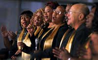 A choir made up of Frito-Lay employees performed during an event honoring the Rev. Martin Luther King Jr. at company headquarters in Plano's Legacy Business Park. In 1985, Frito-Lay joined Electronic Data Systems at Legacy, which today has more than 10 million square feet of corporate and regional headquarters.
