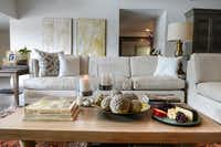 Ezelle considers a neutral palette key a calming influence in a houseful of teenagers and pets.
