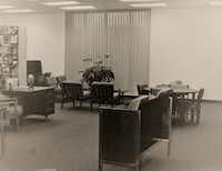 The original interior of the Mesquite Public Library, complete with a rack of record albums, in 1964. The Mesquite Public Library system will celebrate its 50th anniversary throughout the month of February. Back when the library opened, it was mostly books. Today it offers downloadable e-books, audio books, automated children's books and digital magazines.Photos submitted by JEANNIE JOHNSON