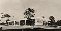 An artist created this rendering of the Mesquite Public Library in 1964.Photo submitted by JEANNIE JOHNSON