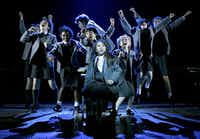 """Bailey Ryon, center, in the musical """"Matilda"""" at the Shubert Theatre in New York, Feb. 27, 2013. The production has been nominated for 12 awards in the 67th annual Tony Awards. (Sara Krulwich/The New York Times)"""