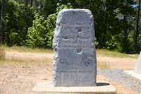 A memorial marks the spot where Bonnie Parker and Clyde Barrow were killed May 23, 2014. The memorials are seven miles out of Gibsland, La. on Highway 154.Tristan Hallman - Staff