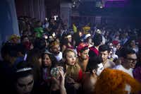 Seems like old times? A bus service brought Halloween partygoers from El Paso to a nightclub in Ciudad Juárez, Mexico, where some hustle and bustle has returned.