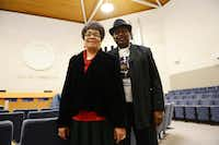 The Rev. Willie Rainwater and his wife, Juanita, stand together inside Carrollton City Hall. Willie's late mother, Annie Heads Rainwater, helped lead desegregation efforts in the 1960s, and now Willie and Juanita are the organizers in the annual Martin Luther King Jr. Day parade, which they've led for the past 17 years.ROSE BACA/neighborsgo staff photographer