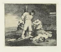 Francisco de Goya y Lucientes (Spanish, 1746-1828). The Disasters of War. And There's No Help for It. Plate No. 15. 1810-1814, etching and aquatint, Meadows Museum, SMU, Dallas. Algur H. Meadows Collection.Michael Bodycomb