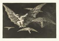 Francisco de Goya y Lucientes (Spanish, 1746-1828). Los Disparates. A Way of Flying. Plate No. 13.  1815-1824, etching and burnished aquatint, Meadows Museum, SMU, Dallas. Algur H. Meadows Collection.Michael Bodycomb