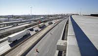 LBJ Freeway's new interchange at Interstate 35E, part of the $2.6 billion reconstruction project, is set to open next year.
