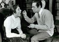 Julie Andrews and Rex Harrison are seen in this undated handout photo from a production of My Fair Lady.