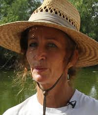 Marie Tedei fears the chemicals nearby could hurt the bees on her farm.