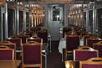 The 1937 Missouri-Kansas-Texas dining car is among six cars at the Museum of the American Railroad.