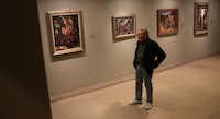Former art teacher from Midwestern State Richard Ash at the Loren Mozley exhibit at the Dallas Museum of Art in Dallas April 10, 2013.