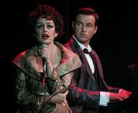 """Janelle Lutz as Judy Garland) and Alex Ross  as Peter Allen in """"The Boy From Oz.""""Nathan Hunsinger - Staff Photographer"""