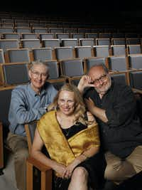 Directors Patrick Kelly (from left), Katherine Owens and Stan Wojewodski Jr. are staging shows at Undermain Theatre this season.