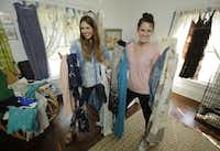 To save money,  Heather DeStena (left), 26, and Kaelyn Terry, 28, share both a house and a wardrobe. Millennials are more likely to rent or share what they buy.Nathan Hunsinger - Staff Photographer