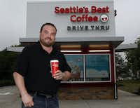 Dave Thompson, operations manager of Seattle's Best Coffee, is getting ready to open 10 stores, including one at 6057 Skillman St. in Dallas.