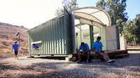 Shipping containers were transformed for the Boy Scouts Camp Emerald Bay on Catalina Island by the architectural firm Gensler.