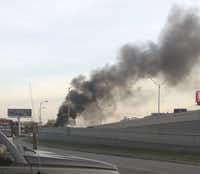 The Ram Longhorn Edition truck Terry Box was test-driving caught fire on the side of the Dallas North Tollway last Wednesday. He'd noticed problems and was about to pull over, but didn't realize the pickup was burning until fellow motorists alerted him.