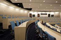 A large, multiple-use auditorium is among the training facilities at the campus.