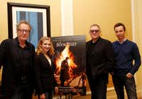 """Geoffrey Rush (from left), Sophie Nelisse, Brian Percival and Markus Zusak stopped in Dallas recently to promote """"The Book Thief."""""""