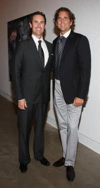 With Wagner at the Dallas Contemporary's Legends fundraiser, Sept. 2009