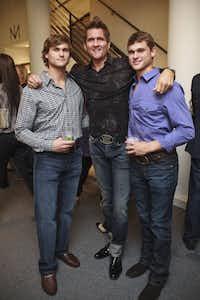 Austin Lewis, Niven Morgan, and Morgan Lewis at Niven Morgans party at Tootsies in Dallas on Sept 29th, 2010.