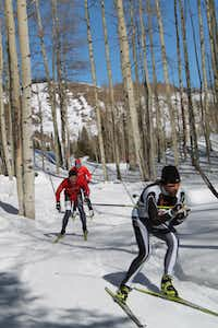 Freestyle skate skiers tackle the course at the Chama Chile Ski Classic & Winter Fiesta. The 41st annual event runs Jan. 18-19.
