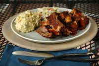 What's better than ribs cooked on the grill, served with cole slaw and potato salad?