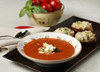 ROASTED TOMATO SOUP - Just add purchased sandwich fixings to turn this easy summer soup into a meal.Evans Caglage