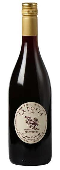 La Posta Glorieta Vineyard Pinot Noir 2009. This is a fruity, medium-bodied pinot noir with a touch of oak. Tidwell noted that the wine had brightness and acidity, and earthy as well as fruity qualities.Evans Caglage