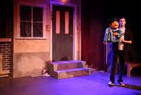 Matt Purvis performs as Princeton during the opening number of Avenue Q on January 11, 2014 at Stage West Theatre in Fort WorthSarah Hoffman - Staff Photographer