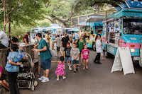 Plenty of food vendors were available to the crowd Saturday evening for the first Zoo Tunes at the Dallas Zoo on Saturday, August 11.