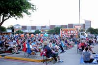 """As the sun set, the parking lot at Alamo Drafthouse in Richardson filled up with families and friends for a screening of cult classic """"Dazed and Confused"""" on July 13, 2013."""