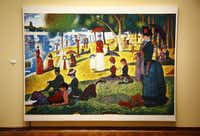 """The 8-by-6-foot """"Sunday Afternoon: A New Pointillist Interpretation"""" took about six weeks to complete, while Georges Seurat's """"A Sunday Afternoon on the Island of La Grande Jatte"""" took two years."""