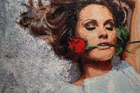 """A portion of 8-by-6-foot """"Beauty Rose"""" is on display in Page's Dallas studio."""