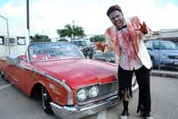 """Hundreds of people headed to the new Alamo Drafthouse Cinema in Richardson on July 25 for a premiere of """"The World's End,"""" third movie in the so-called """"Blood & Ice Cream"""" trilogy. One of those movies, """"Shaun of the Dead,"""" is a zombie flick, so Ashton Wilson (pictured) put together his best zombie look and began waiting in line for the premiere at 7 a.m."""