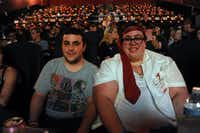 """Brother and sister Nick and Katie Montgomery had front-row seats for the screening of """"The World's End"""" on July 25, 2013 at the new Alamo Drafthouse.Alexandra Olivia - Special Contributor"""