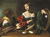 The Conversion of the Magdalen, 1597-98 (oil and tempera on canvas) by Michelangelo Merisi da Caravaggio