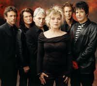 Deborah Harry with rock band Blondie.