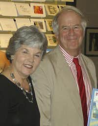 """Robyn Flatt visited with Steven Kellogg when he was here in 2007 during the world premiere of """"Pinkerton!!!,"""" presented by Dallas Children's Theater. NG"""