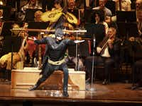 Batman was among the characters who showed up at the 2011 Dallas Symphony Orchestra Halloween concert.